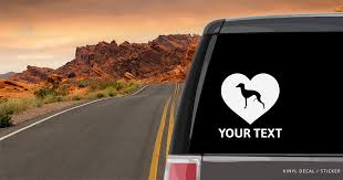 Italian Greyhound Heart Car Window Decal Vinyl Sticker Custom Gifts Etc