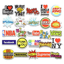 Brand Mini Logo Stickers Waterproof Vinyl Stickers Motorcycle Bicycle Luggage Laptop Decal Patches Skateboard Bumper Stickers Stickerdoll