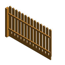 Au Fence Panel Picket Round Top Var Height Design Content