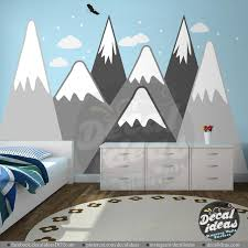 Mountains Wall Decal Boys Room Decor Nursery Wall Decals Etsy