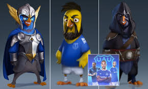 Everton football stars turned into 'angry birds' for new mobile ...