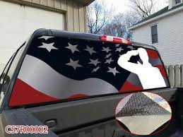 Car Truck Graphics Decals Checkered Flag Rear Window Graphic See Through Tint Decal Print Sticker Truck Auto Parts And Vehicles