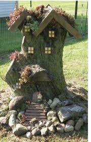 fairy house from a tree stump sweet