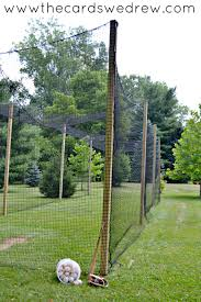 make your own batting cage the cards