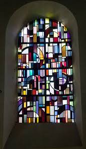 modern stained glass window in chiny