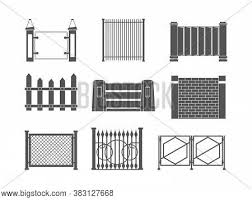 Fence Silhouettes Vector Photo Free Trial Bigstock