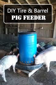 diy tire barrel pig feeder