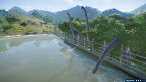 Today I Learned Sauropods Can Drink Water Across The Fence Jurassicworldevo