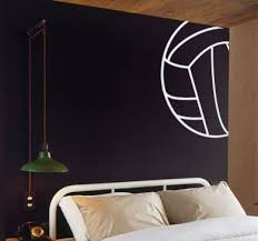 Volleyball Lines Wall Decal Trading Phrases