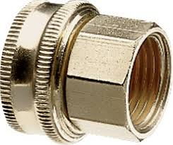 brass pipe and hose fitting