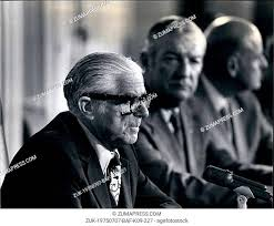 Jul. 07, 1975 - Mayor Abraham Beame at a press conference - New York  (Credit Image: © Keystone Press..., Stock Photo, Picture And Rights Managed  Image. Pic. ZUK-19750707-BAF-K09-227 | agefotostock