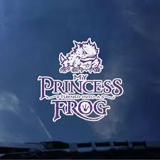 Texas Christian University My Princess Frog Decal Texas Christian University