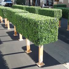Fake Plant Artificial Boxwood Plastic Hedge Fence With Pot Buy Artificial Green Fence Plastic Fence Artificial Grass Fence Product On Alibaba Com