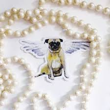 Pug Sticker Vinyl Angel Dog Sticker Pack Car Stickers Etsy