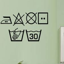 Laundry Symbols Wall Window Sticker Washing Kitchen Utility Wall Decal Laundry Room Sign Washing Room Vinyl Home Decor Wall Stickers Aliexpress