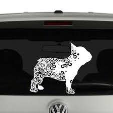 French Bulldog Lovers Mandala Puppy Vinyl Decal Sticker