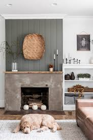 modern rustic minimalist fall mantel