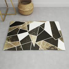 modern rustic black white and faux gold