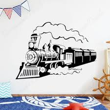 Best Sale Ea272 Vintage Train Wall Sticker Locomotive Retro Steam Train Decals Vinyl Hours Home Decor Kids Room Nursery Playroom Decals 4441 Cicig Co