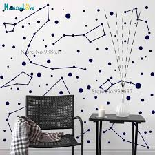 Constellations Decal Zodiac Star Space Living Room Baby Room Decoration Vinyl Wall Home Decor Removable Vinyl Wall Stickers B907 Wall Stickers Aliexpress