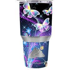 Skin Decal Vinyl Wrap For Ozark Trail 30 Oz Tumbler Cup Stickers Skins Cover 6 Piece Kit Glowing Butterflies In Flight Walmart Com Walmart Com
