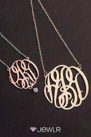 monogram name pendant jewelry custom