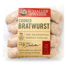 cooked bratwurst schaller weber