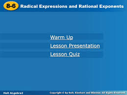8 6 radical expressions and rational