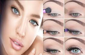 natural eye makeup for brown and blue