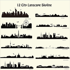 London New York Etc Skyline Wall Stickers City Building Walll Decals City Silhouette Wall Art For Family Couples Home Decor Self Adhesive Wall Stickers Shop Wall Decals From Fst1688 19 5 Dhgate Com