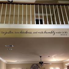 Micah 6 8 Do Justice Love Kindness And Walk Humbly With God Wall Decal Quote Bible Verse Scripture Church Youth Room Mic6v8 0006 Removable Vinyl Wall Decals Wall Decals Youth Room