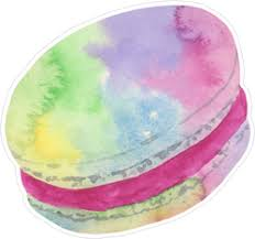 Watercolor Macaron Sticker