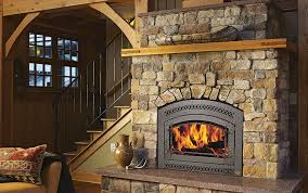 cabin fireplace from wood to gas