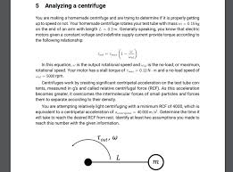 yzing a centrifuge 5 you are making
