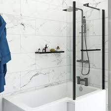 White Marble Bathroom Wall And Floor Tiles Image Of Bathroom And Closet