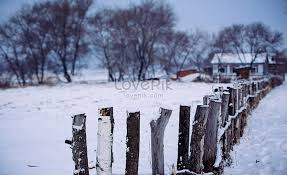 A Beautiful Snow Wood Fence In Winter Photo Image Picture Free Download 500672477 Lovepik Com