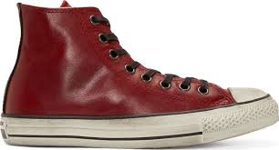 red leather chuck taylor high top