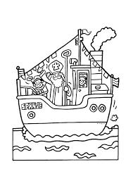 Pakjesboot Met Sinterklaas Aan Boord Sinterklaas Kleurplaten