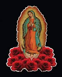 Virgen De Guadalupe Roses Catholic Virgin Mary Car Decal 2 Size Window Laptop Bike Patch Virgen De Guadalupe Roses Catholic Virgin Mary Vinyl Sticker 8 8 X 11 5