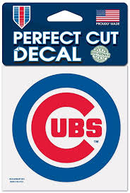 Amazon Com Chicago Cubs Official Mlb 4 X 4 Decal Sports Fan Decals Sports Outdoors