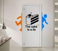 Portal The Cake Is A Lie Vinyl Wall Decal Sticker Wall Decor Game Decal Ebay