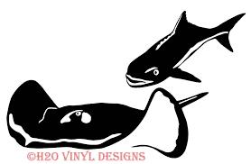 Stingray And Cobia Vinyl Sticker