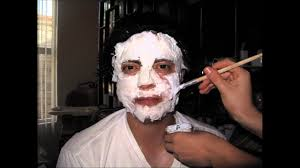 zombie makeup with tissue paper and