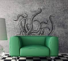 Amazon Com Wall Decal Octopus Tentacles Kraken Ocean Horror Vinyl Decor And Stick Wall Decals Kitchen Dining