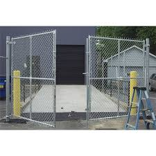 Hoover Fence Commercial Chain Link Fence Double Gates All 1 5 8 Galvanized Hf20 Frame Hoover Fence Co