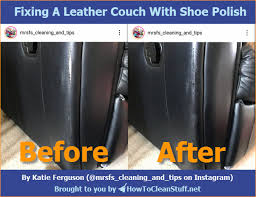 fix leather furniture with shoe polish