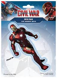 Captain America Civil War Iron Man Car Window Decal New Imagine That Comics