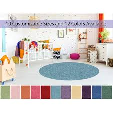 9 Round Soft Colorful And Cozy Children Choice Area Rugs For Bedroom Nursery Classroom Playroom 12 Colors Available Walmart Com Walmart Com