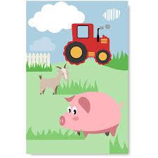 Awkward Styles Pig Picture Farm Poster Decor Farm Animals Unframed Art Kids Room Wall Art Cute
