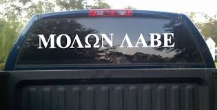 Molon Labe Come And Take It Large 36 Die Cut Decal Vinyl Sticker Texas Die Cuts